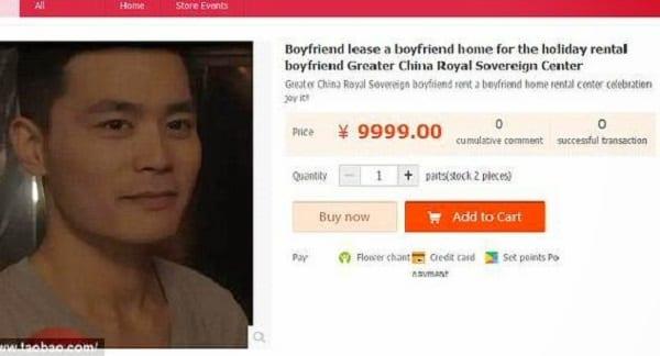Chine: Les femmes louent de faux petits amis à 125 euros par jour (photos)