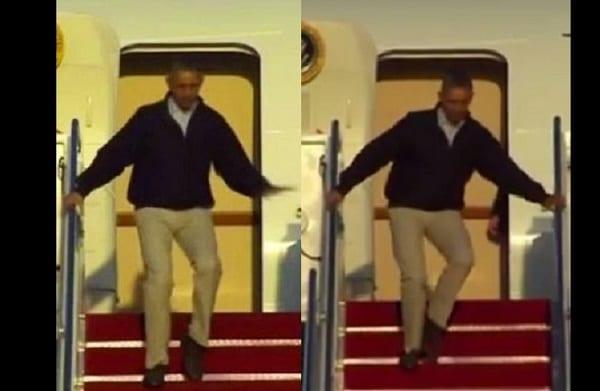 Le président Obama évite de justesse la honte: photo