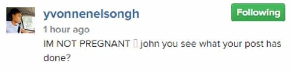 Yvonne Nelson s'en prend à John Dumelo pour avoir dit qu'elle est enceinte