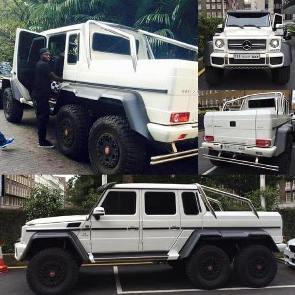 Sulley Muntari et sa Mercedes à 6 roues de plus de 800.000 euros: photos