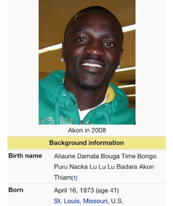 Akon: Connaissez vous son vrai nom? C'est hilarant...Découvrez le!