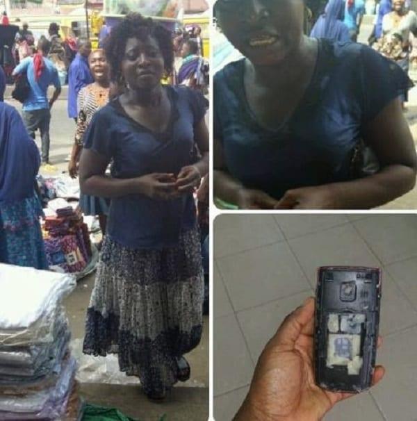 Nigeria: Une femme se fait vendre un téléphone avec du foutou comme batterie (photos)