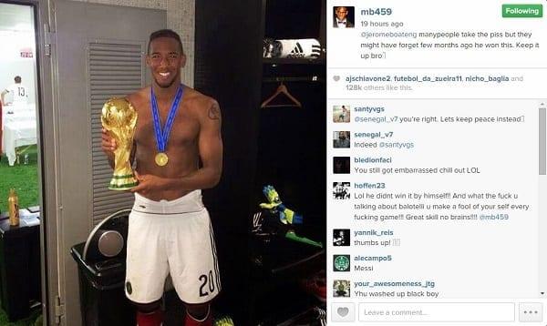 Boateng répond aux moqueries suite à son humiliation Par Messi... Balotelli réagit: photos