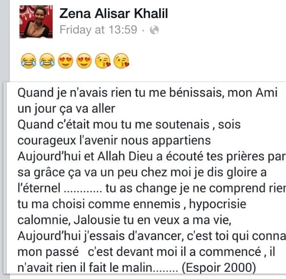 La chroniqueuse ivoirienne Zena Alisar répond à ses détracteurs