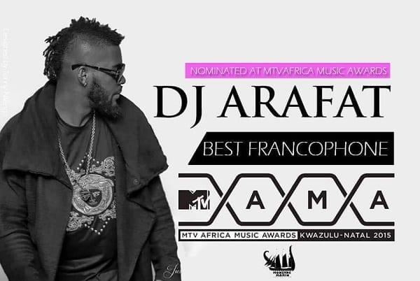 Arafat DJ nominé aux MTV AFRICA MUSIC AWARDS + liste complète des nominés