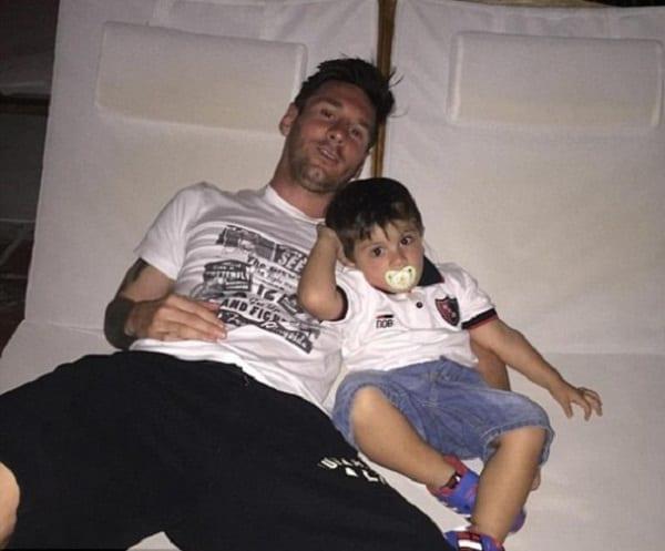 Lionel Messi partage une belle photo de lui et son fils: photo