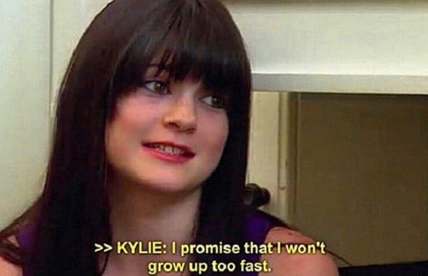 Kylie Jenner admet qu'elle a grandi trop vite:photo