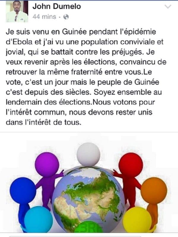 John Dumelo démontre encore son amour pour la Guinée...!