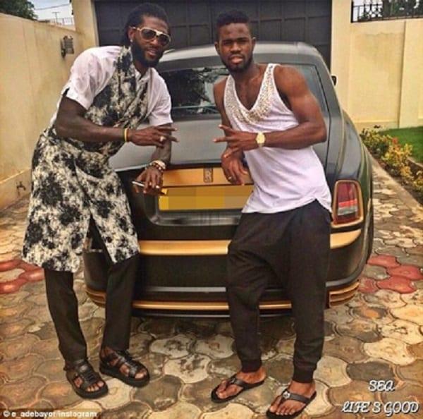 Emmanuel Adebayor exhibe sa Rolls Royce Phantom coupée de 250.000 euros