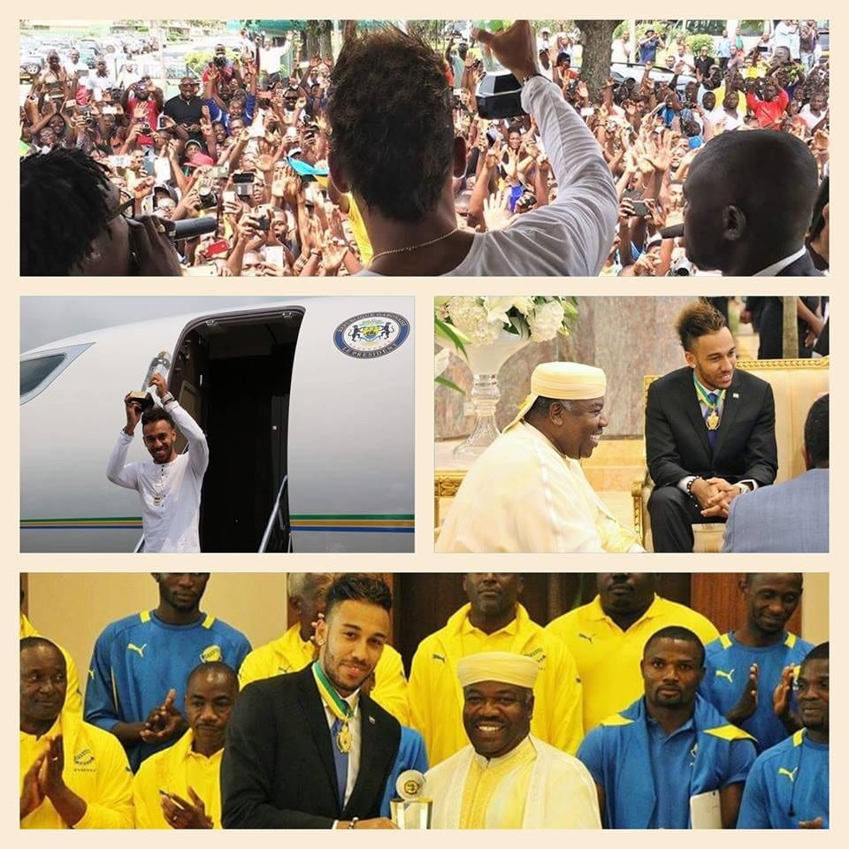 Gabon: Aubameyang rend hommage à ses proches après son sacre