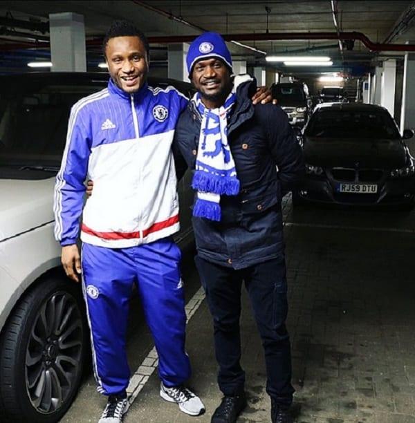 P-Square: Peter rencontre les joueurs de Chelsea (PHOTOS)