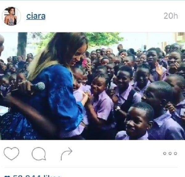 Ciara passe l'un des plus beaux jours de sa vie dans des écoles au Nigeria: PHOTOS
