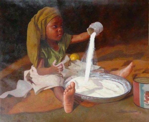 Oresegun Olumide: L'artiste nigérian aux peintures à huile hyperréalistes (PHOTOS)