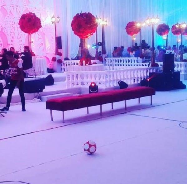 Un fan d'Arsenal transforme son mariage aux couleurs du club: PHOTOS