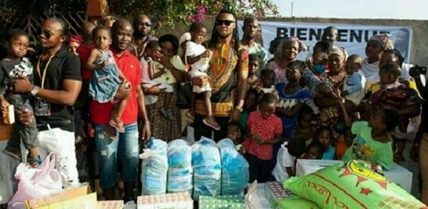 Flavour fait des dons aux enfants du Mali