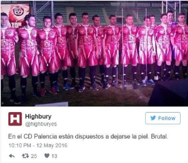 Le club Espagnol C.D. Palencia dévoile le maillot le plus 'ridicule': PHOTOS