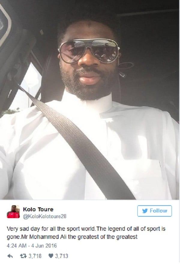 Kolo Touré: Son hommage à  Muhammad Ali dont tout le monde parle (PHOTOS)