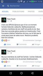 Drogba Didier et Yaya Touré soutiennent Debordeaux DJ