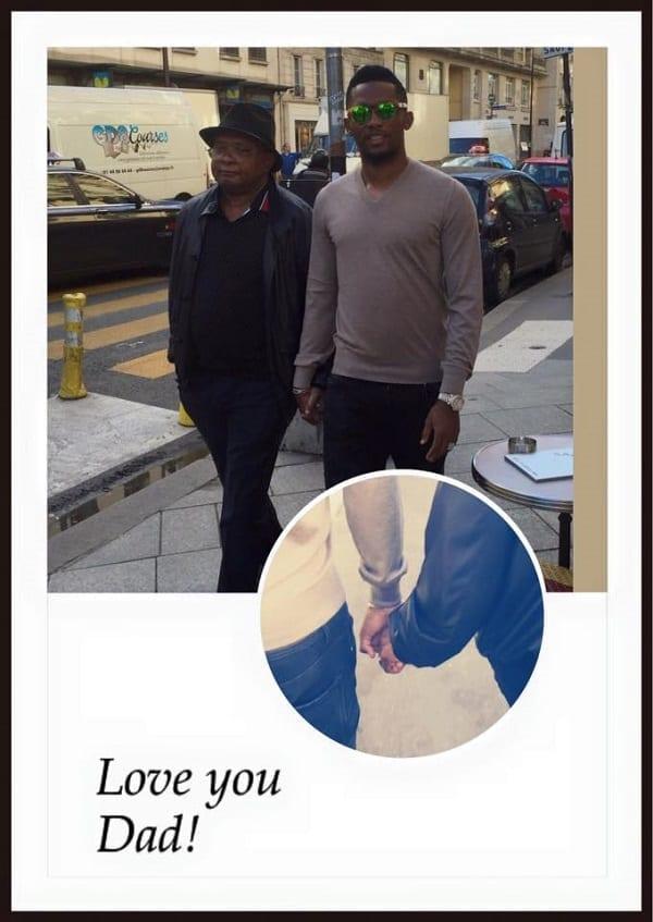 Samuel Eto'o rend hommage à son père: PHOTO